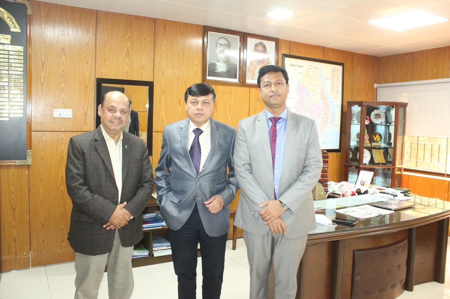 বিভাগীয় কমিশনার ও জেলা প্রশাসক'র সাথে কাজী নাসির উদ্দিন বাবুল'র সৌজন্য সাক্ষাৎ